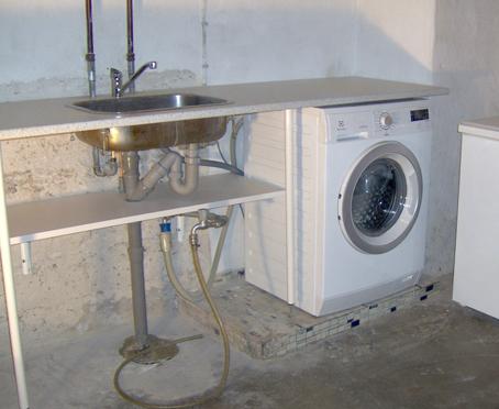 Tilslutning af vaskemaskine