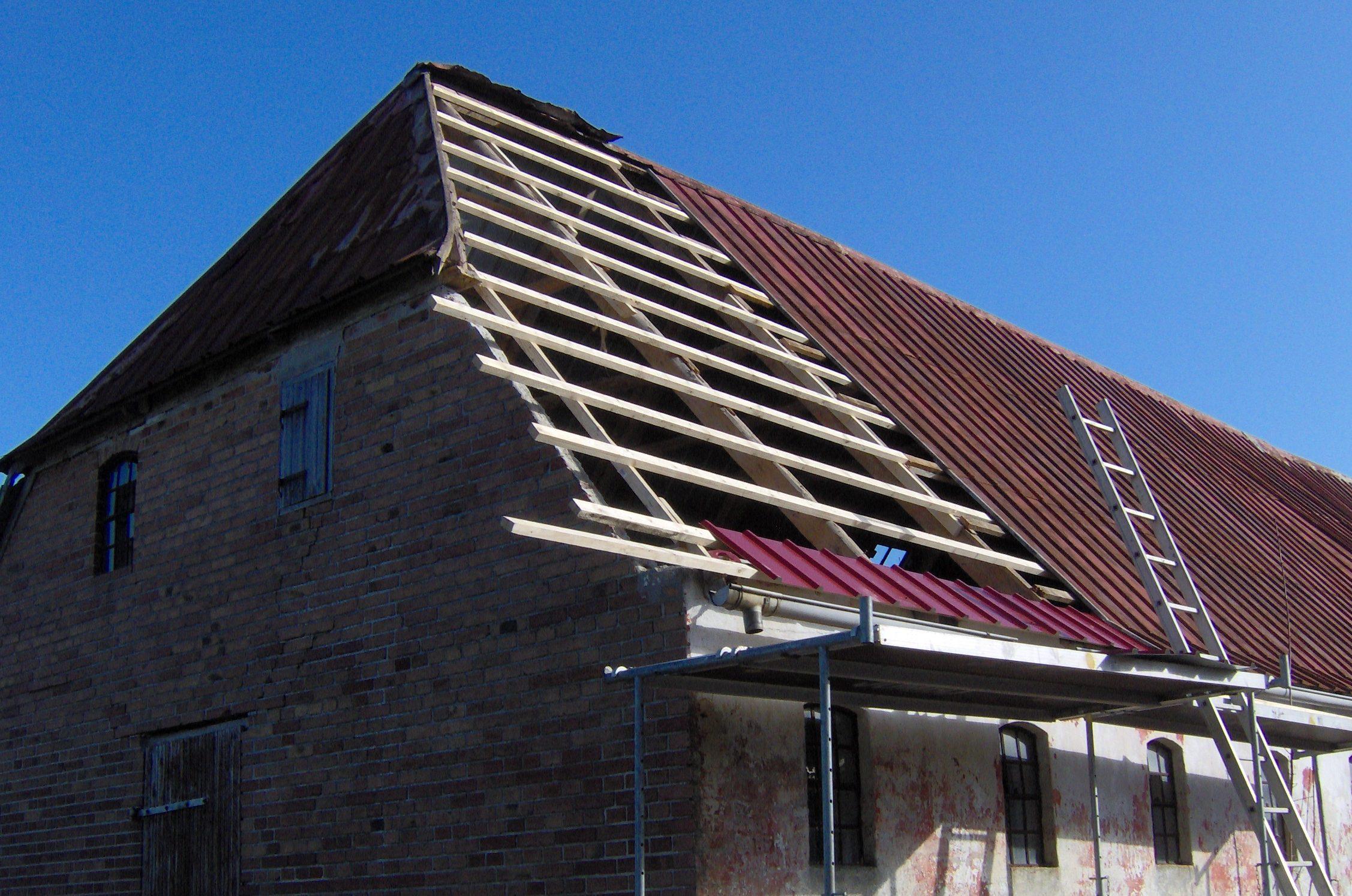Fornyelse af tagplader - stålplader.