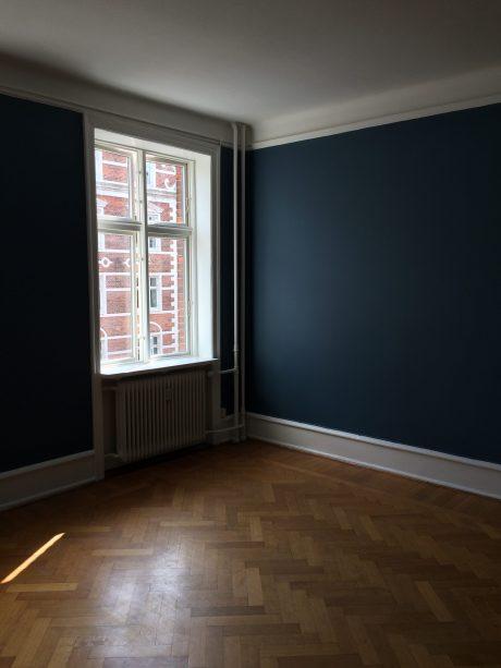 Nymalede vægge - blå